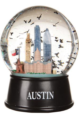 Austin, Texas Flying Bats Snow Globe