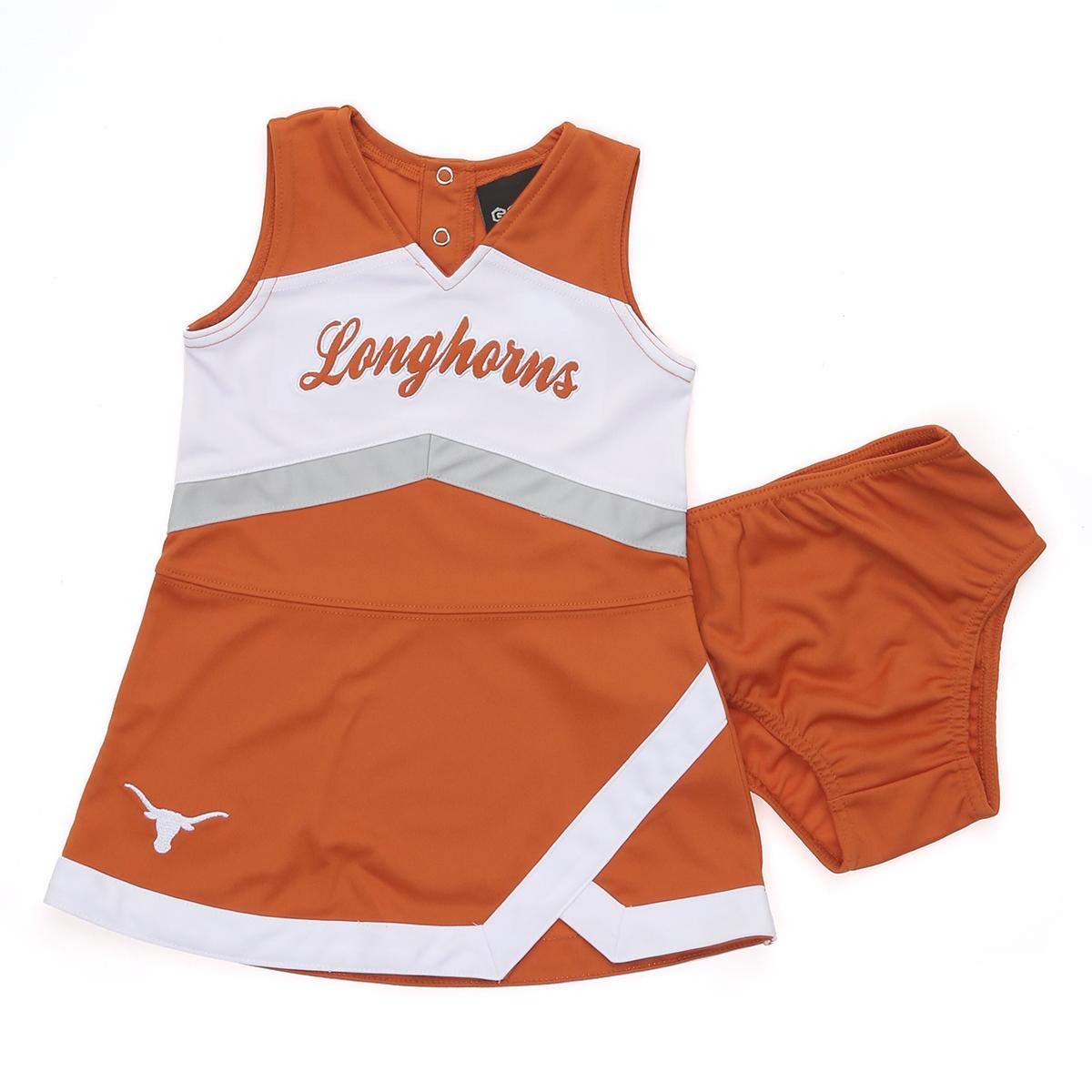 Texas Longhorns Toddler GameDay Dress Hook /'em Horns girls dress COLLEGIATE CORNER UT Longhorns College Football little girl dress