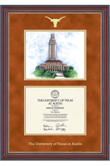 University Of Texas Tower Lithograph Diploma Frame Co Op
