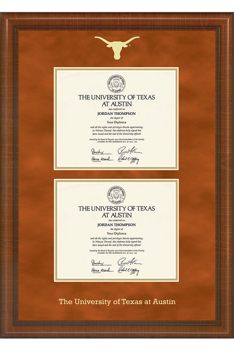 University of Texas Double Diploma Frame | University Co-op