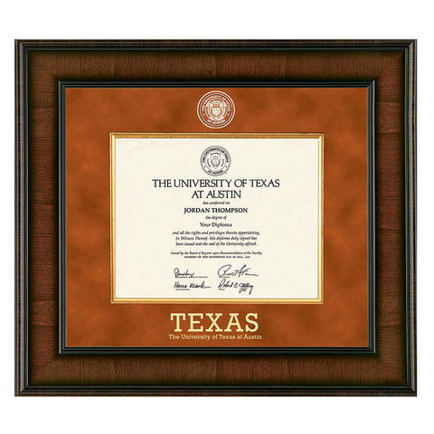 texas longhorn students graduation diploma frames university co op