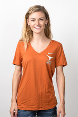 2122638fdb3 Nike Ladies Texas Longhorns Dri-Fit VNeck Sports Tee