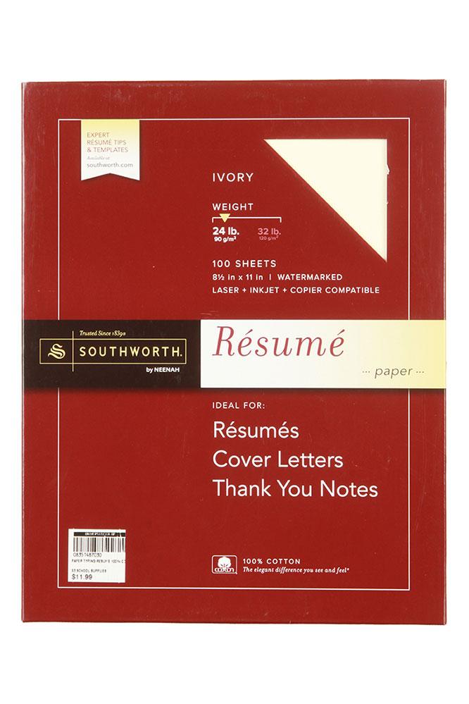 watermarked resume paper
