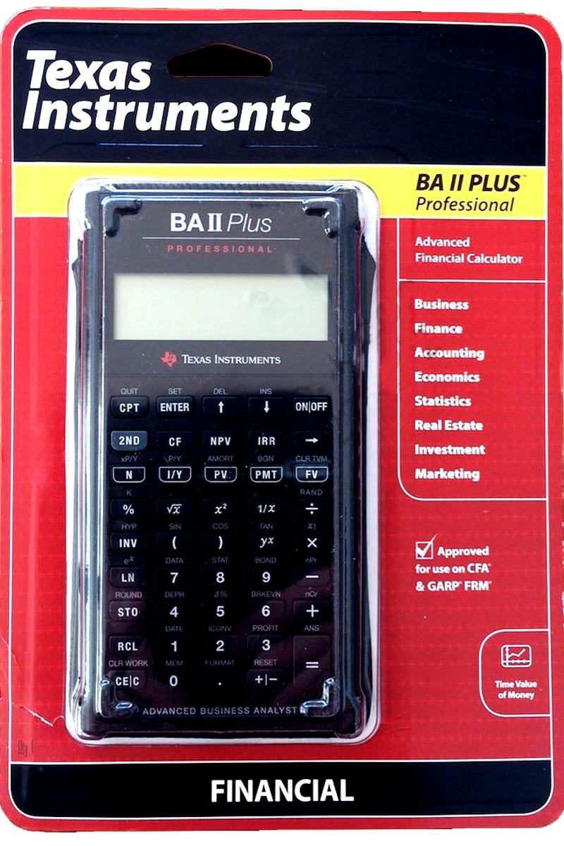 BA II Plus Professional Financial Calculator