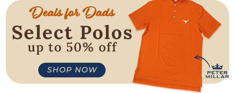 SHOP: Select Polos up to 50% off