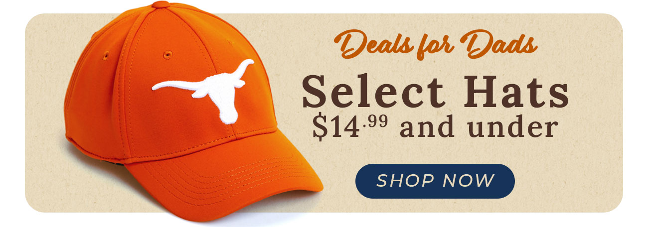 SHOP: Select Hats $14.99 and Under