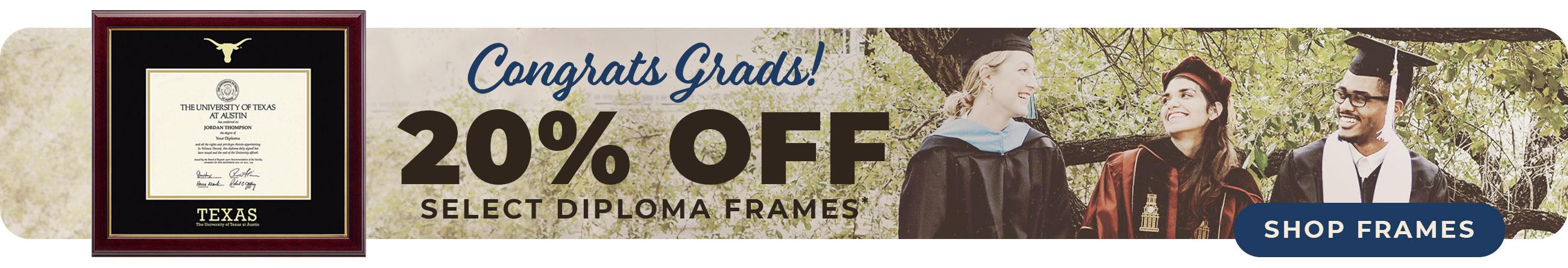 Save 20% on select Diploma Frames