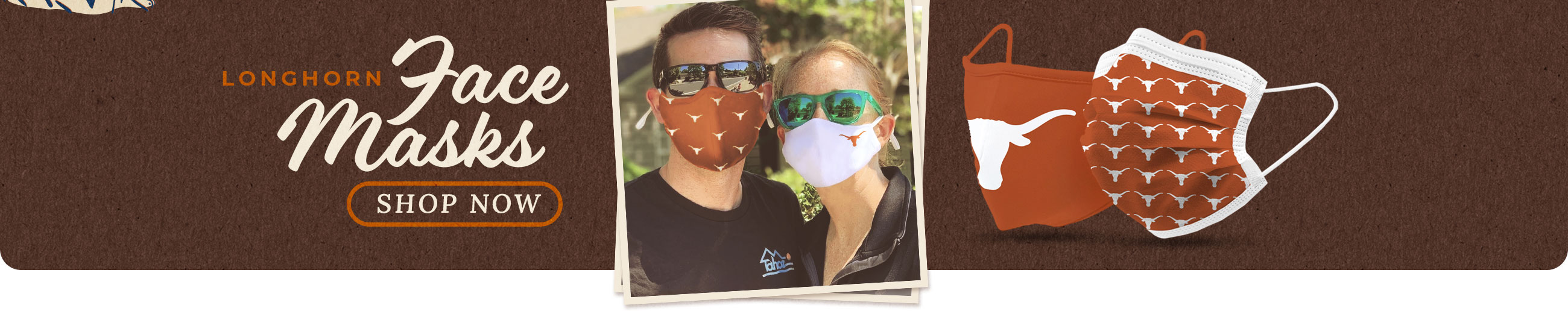SHOP: Longhorn Face Coverings and Masks