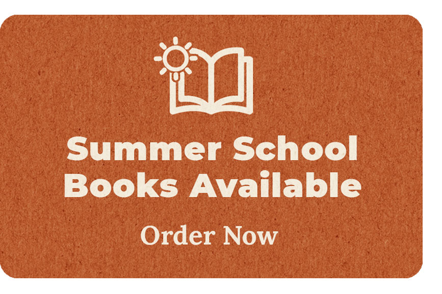 Order your Summer School Textbooks