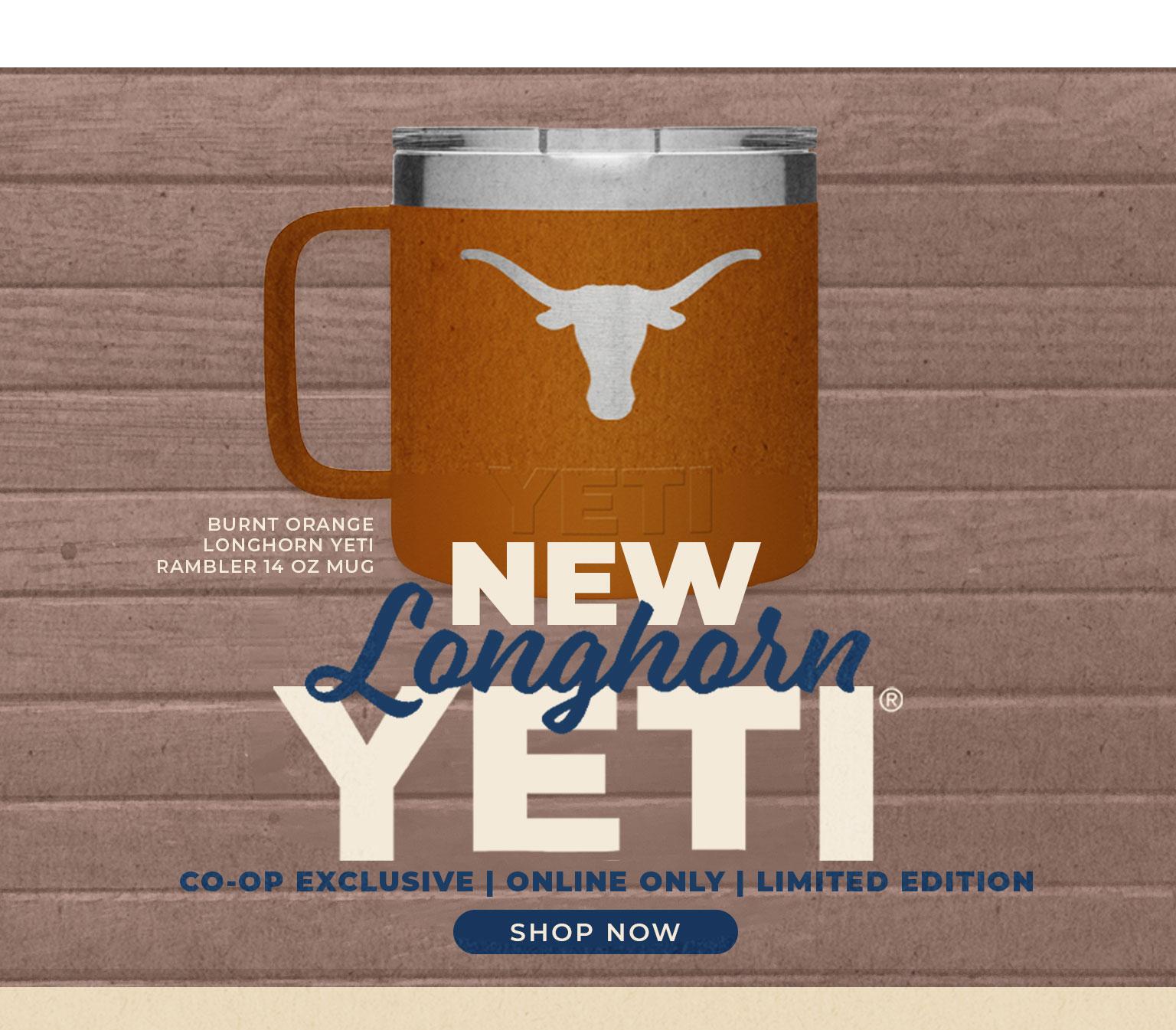 Get Your New Burnt Orange Longhorn Yeti Rambler 14oz Mug!