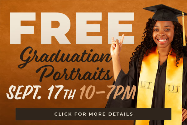 FREE Graduation Portraits in-store September 17th from 10 a.m. to 7 p.m.