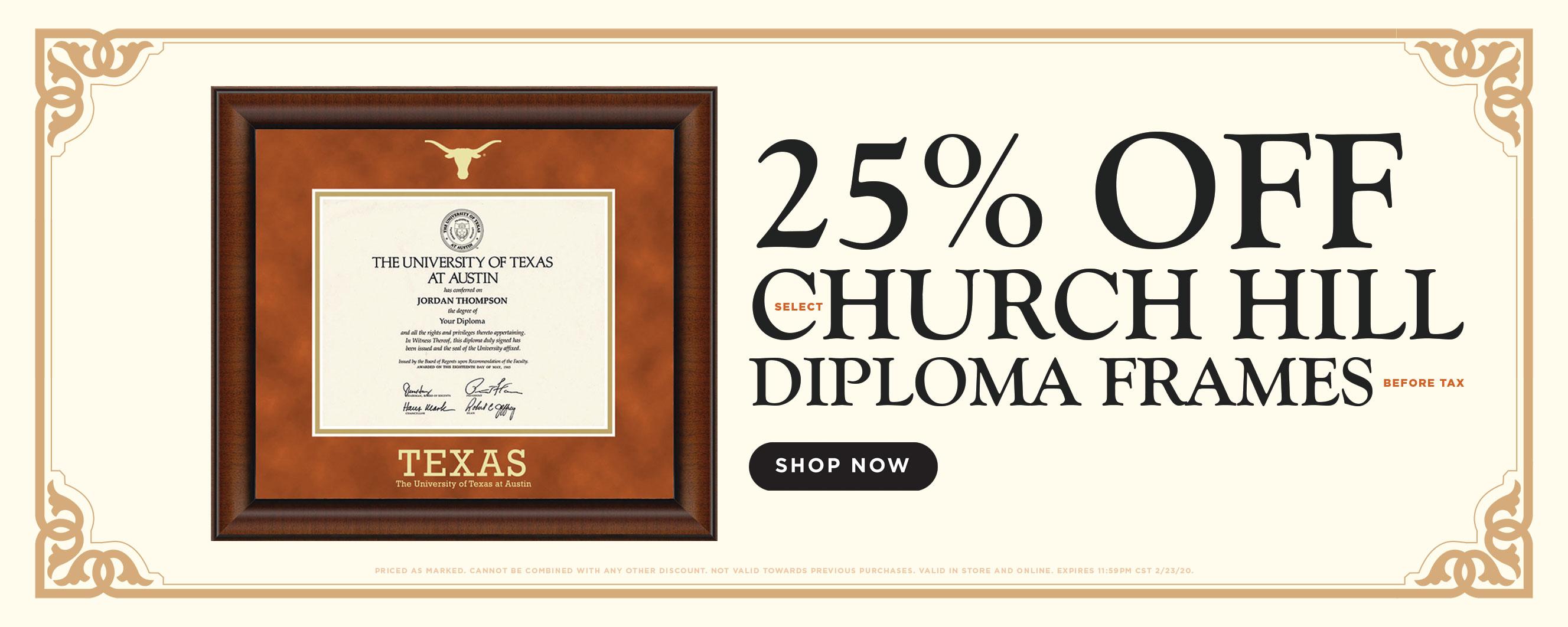 25% OFF CHURCHILL DIPLOMA FRAMES