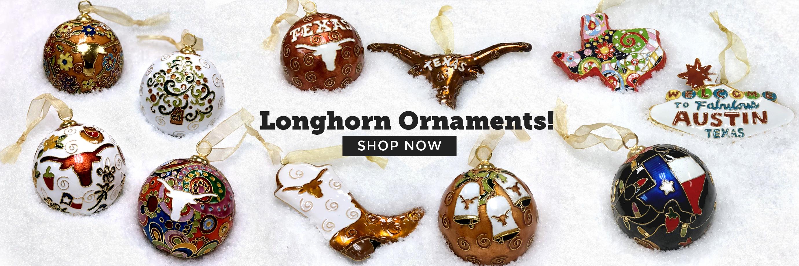 Longhorn Ornaments