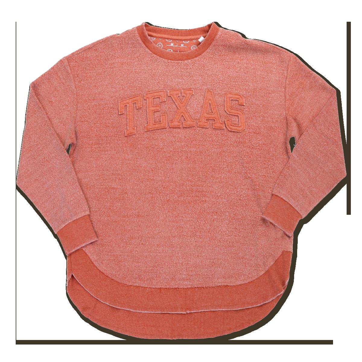 Pressbox Texas Applique Poncho Fleece