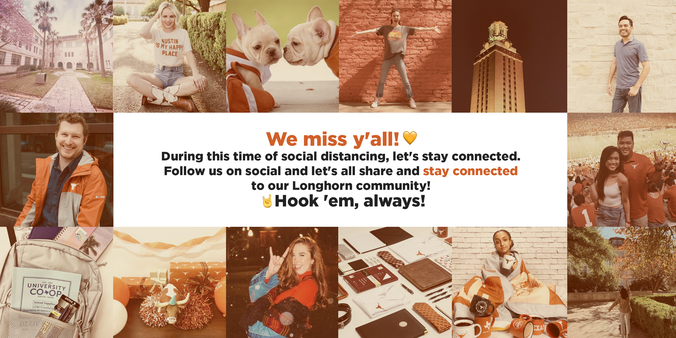 We miss y'all! Stay connected with us on social.