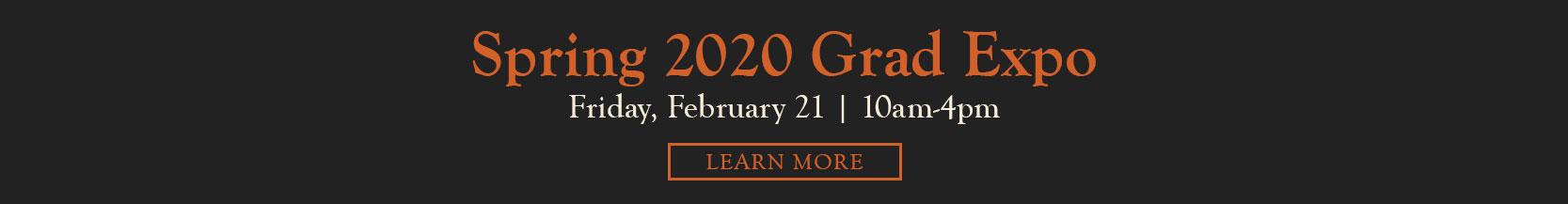 Spring 2020 Grad Expo